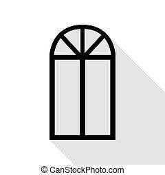 Fenster clipart schwarz weiß  Vektoren Illustration von schatten, heiligenbilder, kaskade ...