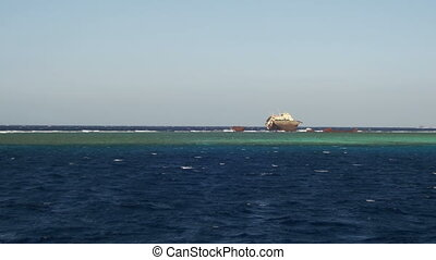 Shipwreck near the Reef in the Red Sea, Egypt