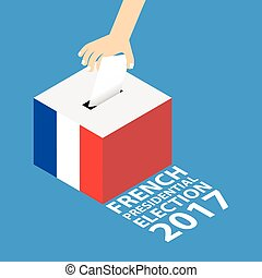 French Presidential Election 2017 Vector Illustration Flat...