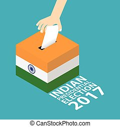 India Presidential Election 2017 Vector Illustration Flat...