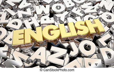 English Language Word Letters Writing Literature 3d...