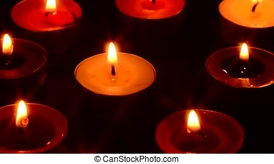 candle and candlelight on dark background