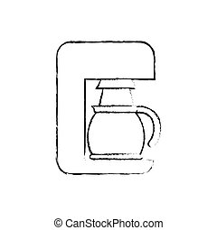 Coffee machine technology icon vector illustration graphic...