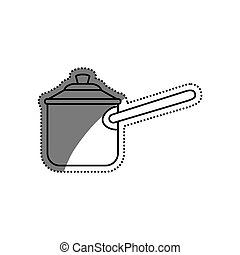 Kitchen cooker pressure icon vector illustration graphic...