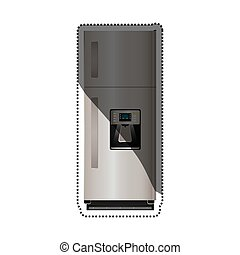 Fridge home appliance icon vector illustration graphic...