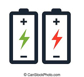 Battery with Flash Icon Design