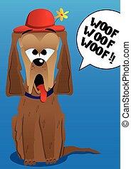 Cartoon barking dog - Vector illustrated cartoon barking dog...