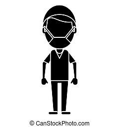 male surgeon medical professional pictogram