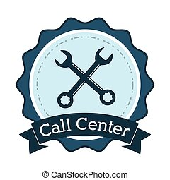 call center support technical badge vector illustration eps...