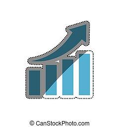 Financial growth symbol