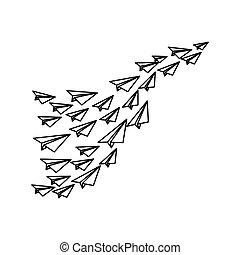 Paper plane origami icon vector illustration graphic design