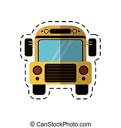 cartoon school bus transport design