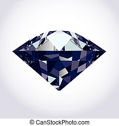 brilliant vector diamond - brilliant diamond on soft grey to...