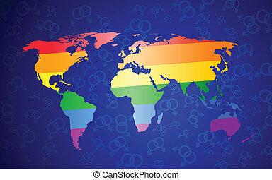global gay pride concept - International gay pride concept....