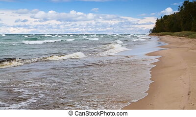 Twelve Mile Beach Loop - Waves break on the sandy Twelve...