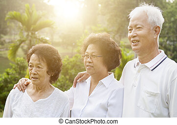 Group of Asian seniors people - Group of healthy Asian...