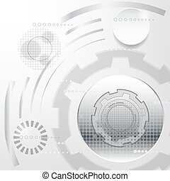 white and silver abstract technology sci fi concept vector...