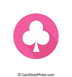 club. on a white background in a bright circle. Trendy flat...
