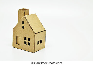 Paper house model. Real estate and property concept