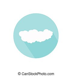 cloud. on a white background in a bright circle