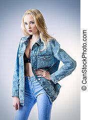 blue jeans girl