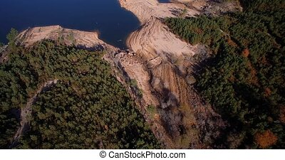 Aerial, Flight Over Rio Homem, Portugal - Graded and...