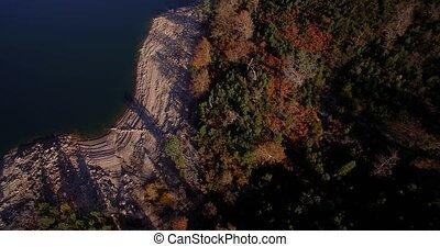 Aerial, Flight Over Rio Homem, Portugal - Graded and...