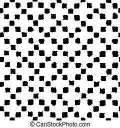 Hand drawn paint squares background. Vector seamless pattern