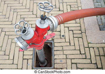 underground hydrant with Storz hose connections