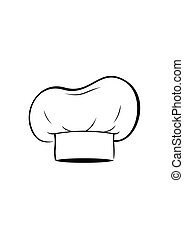 Chef hat isolated on white background. Clothing cook Vector Illustration