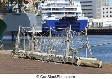 gangway waiting for the next employment