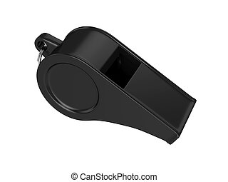 Whistle Isolated on White Background, 3D rendering,...