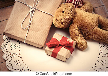 gifts and teddy bear - beautiful gifts and cute teddy bear...