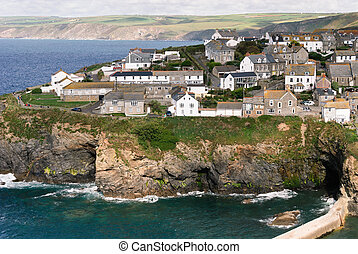 overview in Port Isaac in Cornwall