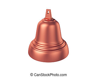 Bell Isolated on White Background, 3D rendering,...