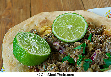 alambre mexicano - popular Mexican dish consisting of...