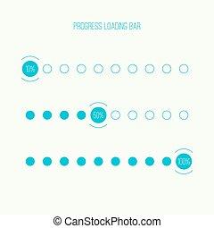 Round loader bar - Set of vector downloaders. progress bar...