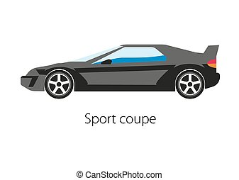 Sport coupe car isolated on white. Modern detailed...