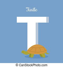 Animals Alphabet. Letter - T