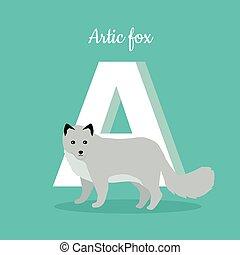 Animals Alphabet. Letter - A