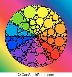 Color wheel or color circle - Color wheel palett or color...