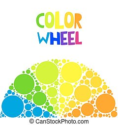 Color wheel or color circle on background - Color wheel...