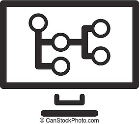 Mind Map Icon. Business Concept. Flat Design. - Mind Map...