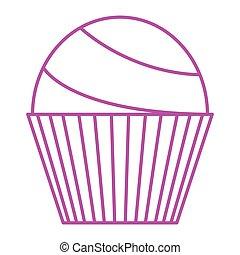 ordinary cupcake - simple thin line ordinary cupcake icon...