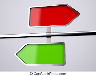 empty two way road sign 3d illustration