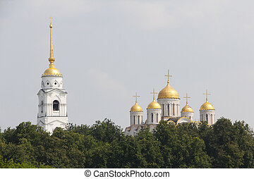 Uspensky cathedral in Vladimir, Russia,