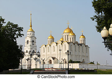 Uspensky cathedral in Vladimir, Russia, July, 25, 2016
