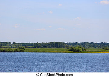 Volkhov river in summer - Beautiful view on Volkhov river...