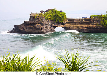 Temple by the Beach, Bali, Indonesia