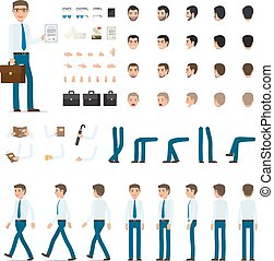 Person Creation Set in Simple Cartoon Design.